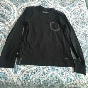Armani exchange black long sleeve